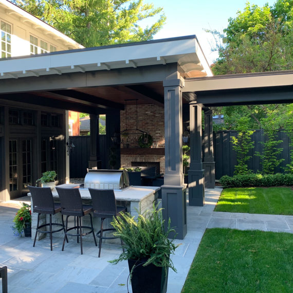 Outdoor Patio by Grant Gilvesy Design